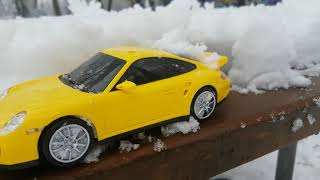 Drive toy Cars riding through the Snow - Video Youtube for Kids