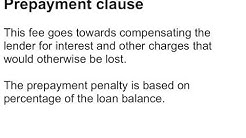 Mortgage Loan Clauses - Real Estate Exam