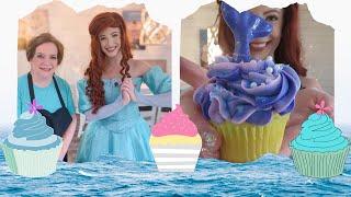 The Little Mermaid Visits a Cupcake Shop &amp Makes 3 Treats!