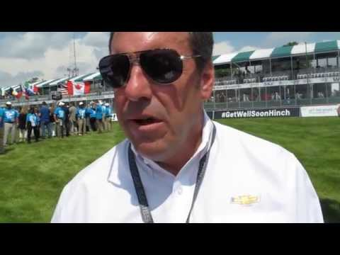 GM Exec VP Mark Reuss at 2015 Detroit Belle Isle Grand Prix on Chevy Participation