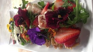 Strawberry and Walnut Summery Salad with Nicko