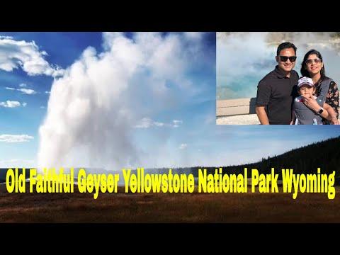 Old Faithful Geyser Yellowstone National Park Wyoming