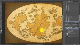 Видеоурок по созданию карт фэнтези-миров в старинном стиле
