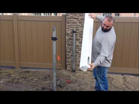PVC, Vinyl Fence Install Step #3