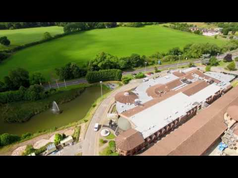 DJI Drone. Mr & Mrs Coles wedding day at Jurys Inn Hinckley Island Hotel, LEICESTER SHIRE.