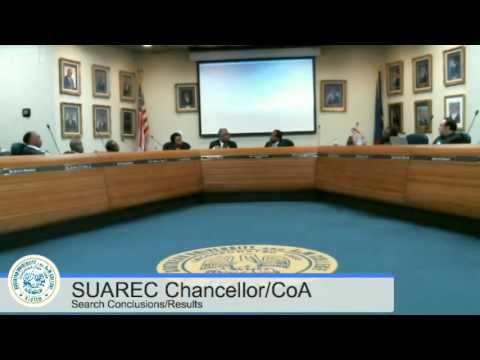 SUAREC Chancellor/CoA Dean Interview Conclusions and Results