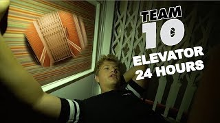 24 HOUR OVERNIGHT CHALLENGE in the TEAM 10 ELEVATOR!