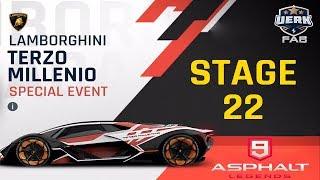Asphalt 9 Lamborghini Terzo Millennio Stage 21 Huracan Evo