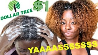 DOLLAR STORE HAIR PRODUCTS ON TYPE 4 HAIR | WASH  + TWIST OUT | WE BEEN SLEEEEP