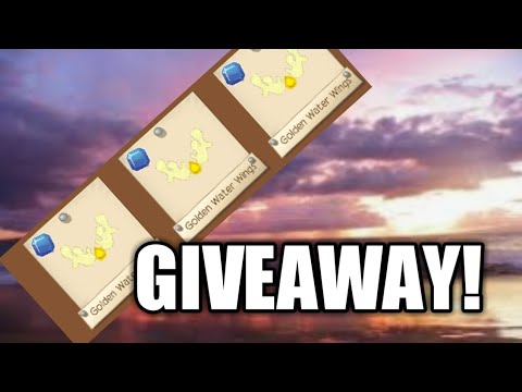 NEW GOLDEN WATER WINGS! ( GIVEAWAY )