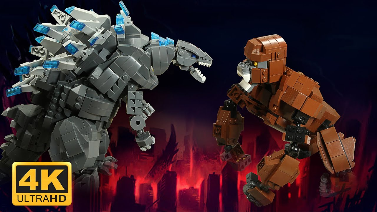 Godzilla vs. Kong in LEGO : COMPLETE EDITION - Animation 4K