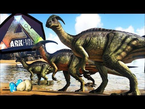 Manada de Parassaurolofos (Jurassic Park), Para vs T-REX!! PERIGOS! | ARK: Play As Dino (#21)