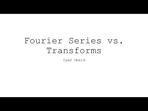 Fourier series vs transform youtube - Fourier series transform table ...