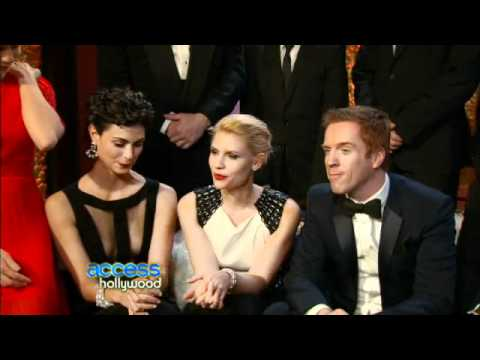 The Cast of Homeland Backstage at the Golden Globes 15 January 2012