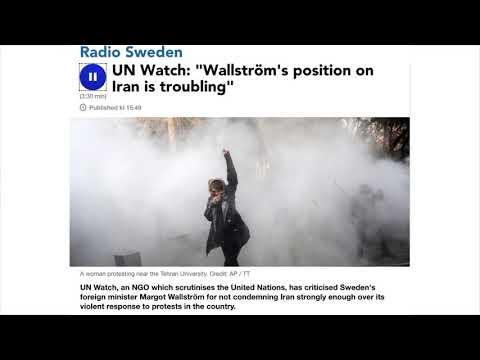 """""""Margot Wallström's position on Iran is troubling"""" - Hillel Neuer on Radio Sweden"""