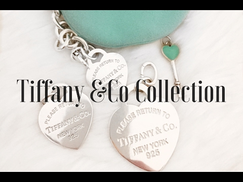 Tiffany & Co Collection/ mod shots/ heart charm size comparison