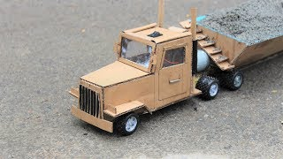 How to make a cardboard battery truck