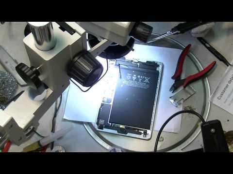 iPad mini Backlight repair Dim screen problem solution soldering with CyberDocLLC SMDRemoval kit