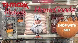 On The Hunt for Fall Decor! Home Goods, TJ Maxx, & Michaels Shop With Me!