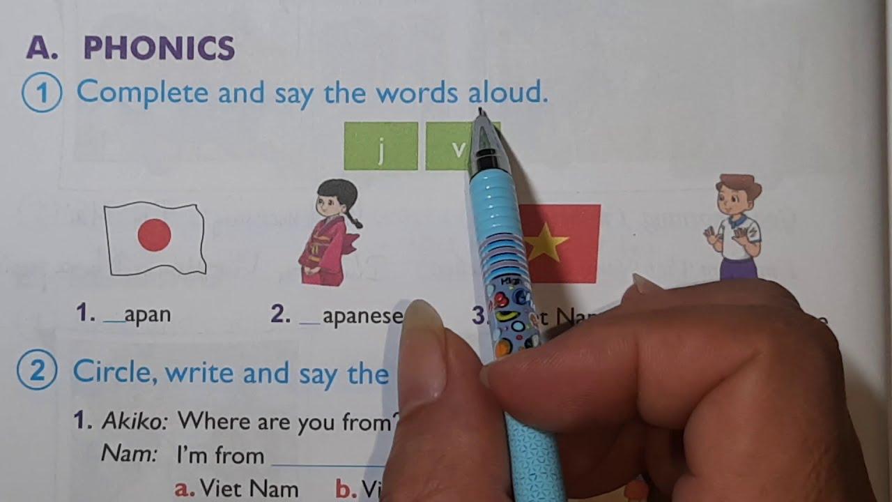 Hướng dẫn làm bài tập tiếng Anh lớp 4 trang 8, 9 Sách bài tập | Unit 2 I'm from Japan
