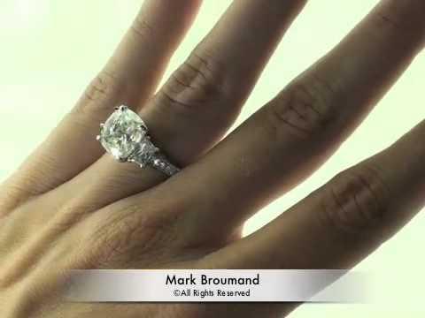 6 02ct Cushion Cut Diamond Engagement Anniversary Ring Mark