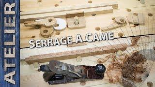 Tracer un serrage à came pour maintenir des pièces sur l'établi.