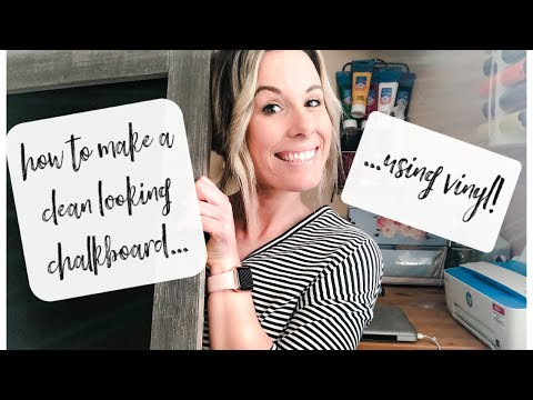 DIY Easy Sign with VINYL and Your CRICUT! | Make Your Chalkboard Look CLEAN!