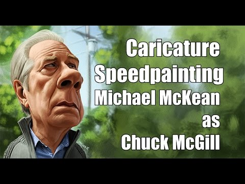Caricature Speedpainting with Marcus: Michael McKean as Chuck McGill
