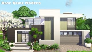 Modern House ☘️   Base Game   No CC   The Sims 4 Speed Build