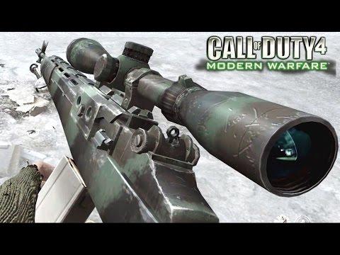 Call of Duty 4 Modern Warfare Sniper One Shot One Kill Mission Gameplay Veteran