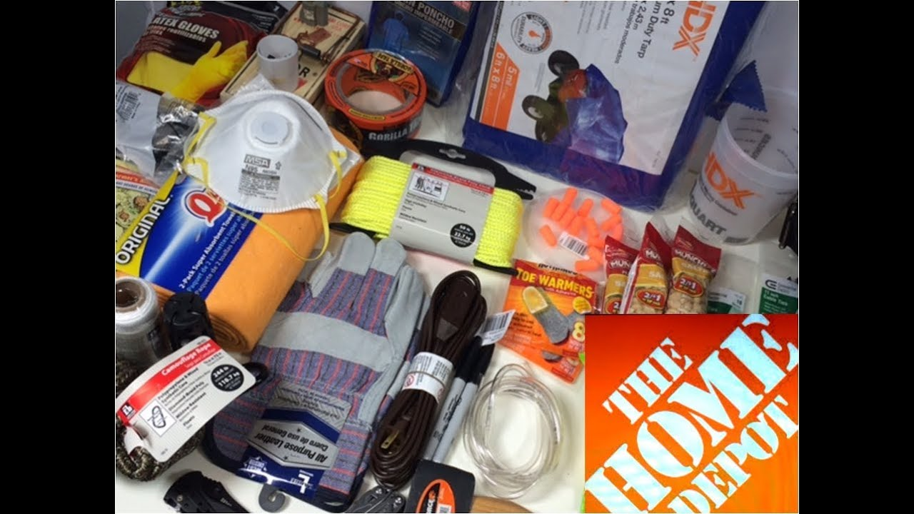 Home Depot Urban Survival Kit Bug Out Bag Youtube