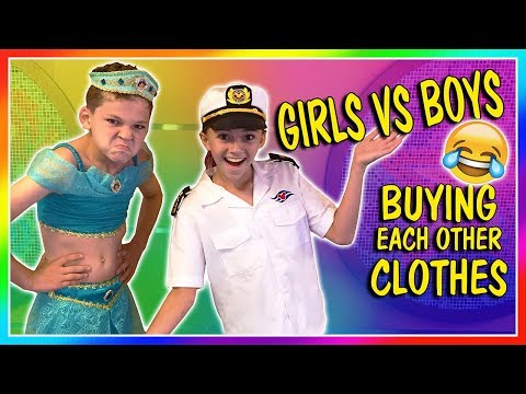 GIRLS VS BOYS BUYING EACH OTHER CLOTHES | We Are The Davises