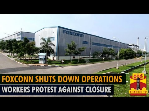 Foxconn Shuts Down Chennai Operations From Today? - Thanthi TV
