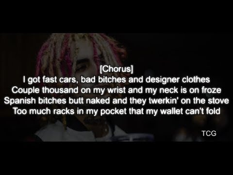 Lil Pump - Designer (LYRICS) (Official Lyric Video)