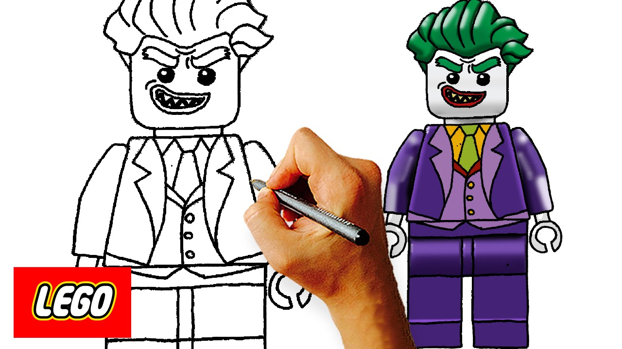 How To Draw Lego Joker Step By Step Kids Art Lesson