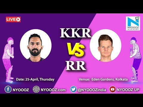 Live IPL 2019 Match 43 Discussion: KKR vs RR | Target for Rajasthan Royals Is 176,