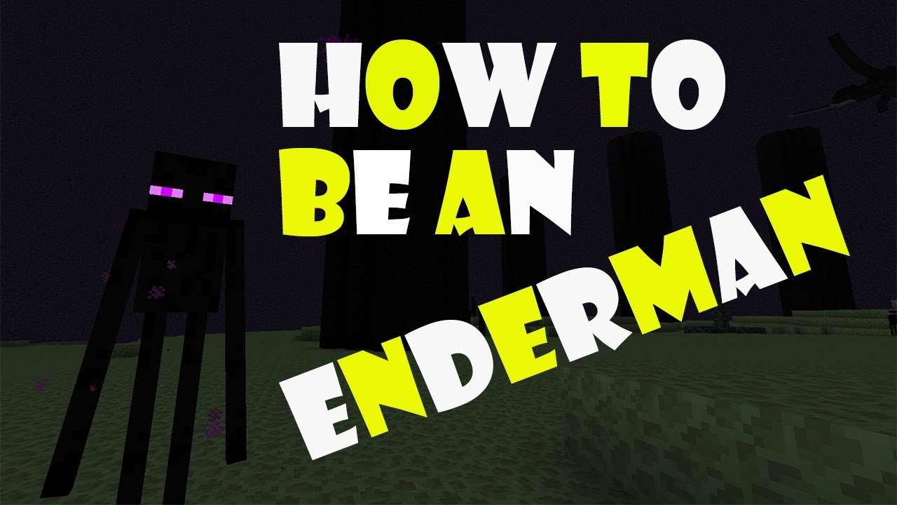 HOW TO BE AN ENDERMAN  Minecraft PE 11.11.11  You are an Enderman Addon