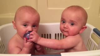 twins share a pacifier cutest moments