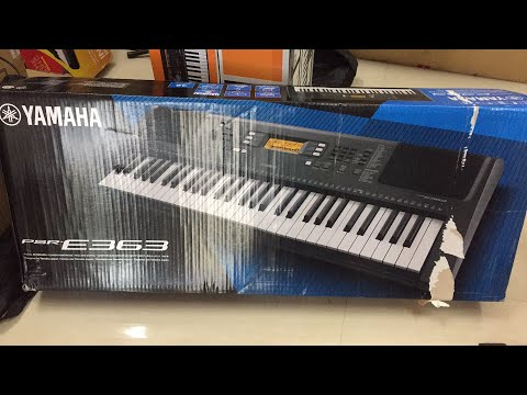 yamaha psr e363 unboxing live youtube. Black Bedroom Furniture Sets. Home Design Ideas