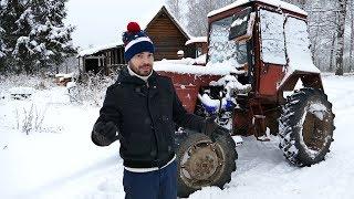 Турбо-трактор Володька - холодный пуск!