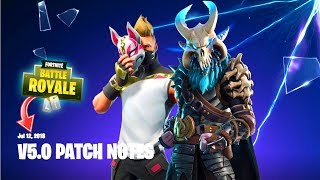 FORTNITE SEASON 5 UPDATE PATCH NOTES (New Map, New Skins, Weapon Changes & MORE)