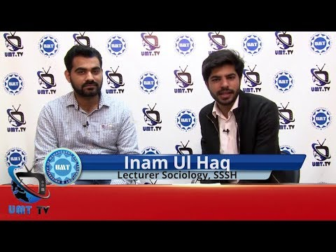 Inam Ul Haq, Lecturer Sociology Discusses the Scope of Sociology at UMT