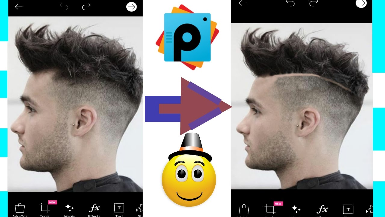 How To Change Hairstyle In Picsartspecial Edithairstyles For Men