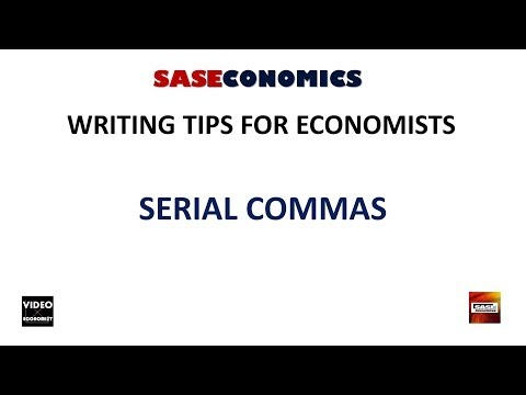 Serial Commas: Writing Tips #1.