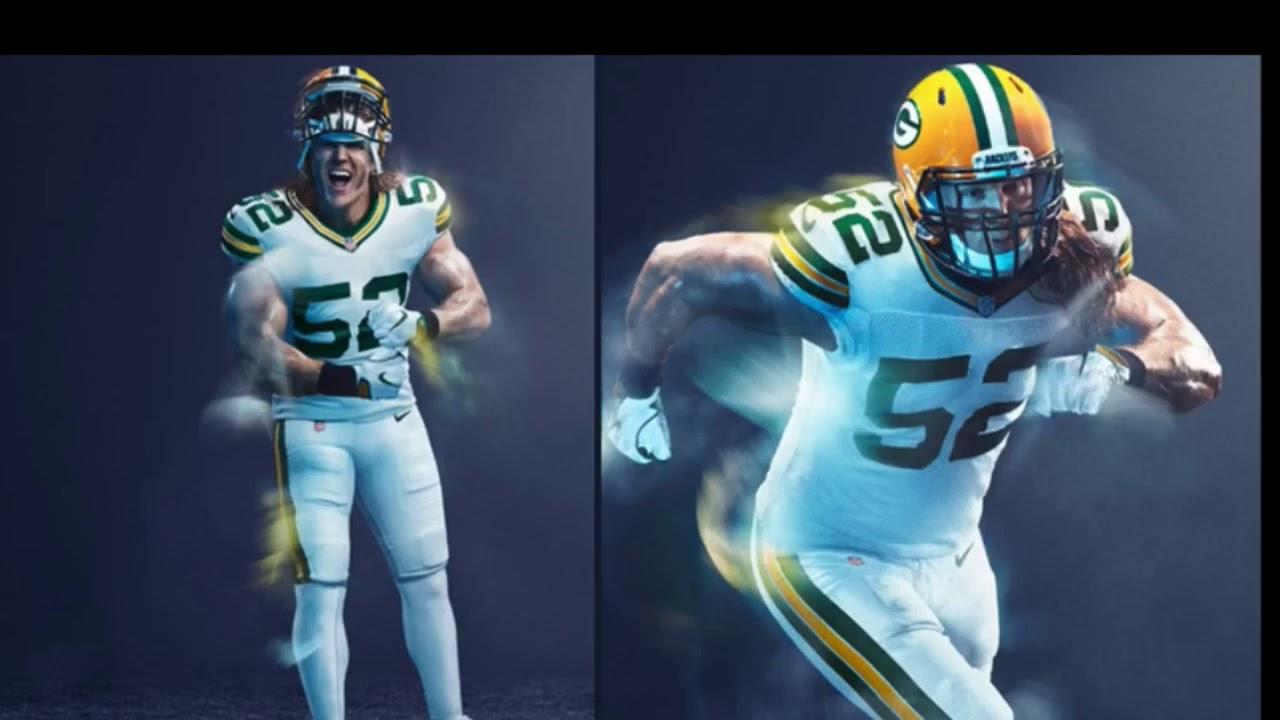 00e3f3d715e Top 10 color NFL color rush uniforms - YouTube