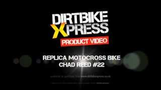 Replica Motocross Bike Model - Chad Reed TwoTwo Motorsports Honda CRF450 - 360° Video