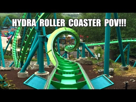 Hydra Roller Coaster Front Seat POV 60FPS Dorney Park