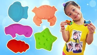 Colors Song, Baby Nursery Rhymes Learn Colors for Children with Kinetic Sand, BaBiBum