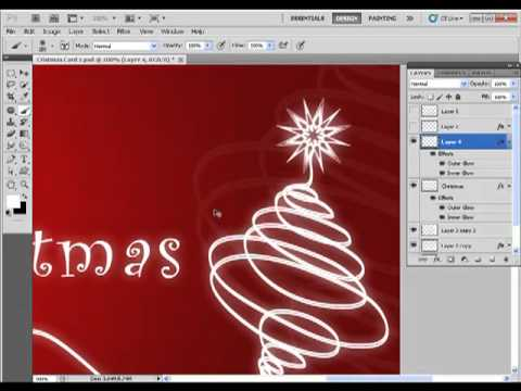 Christmas card photoshop tutorial youtube for Photoshop christmas card ideas