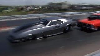 BRUTAL DRAG RACING CRASH - + Finish Line Shot